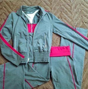 BEBE SPORT Gray Track Suit Set Befit BBSP Pants S